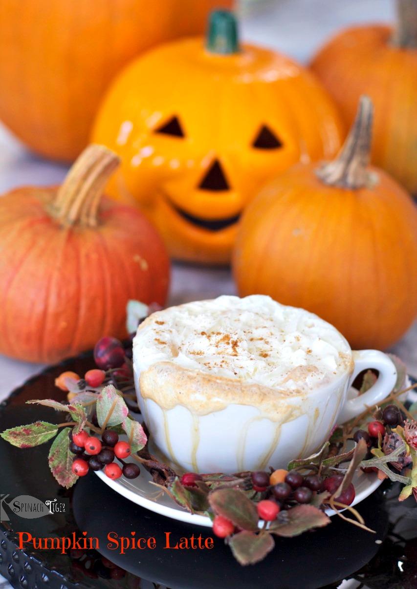 Best Pumpkin Dessert Recipes, Pumpkin Latté from Spinach Tiger