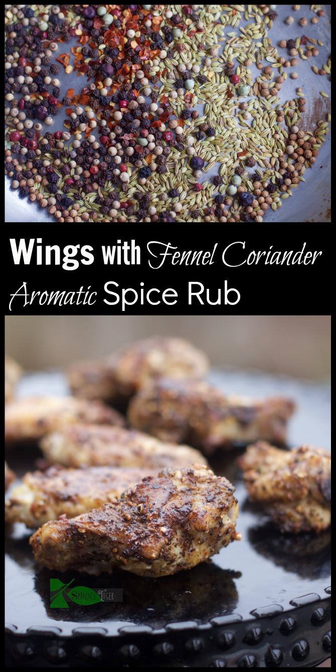 Wings with Coriander Fennel Spice Rub