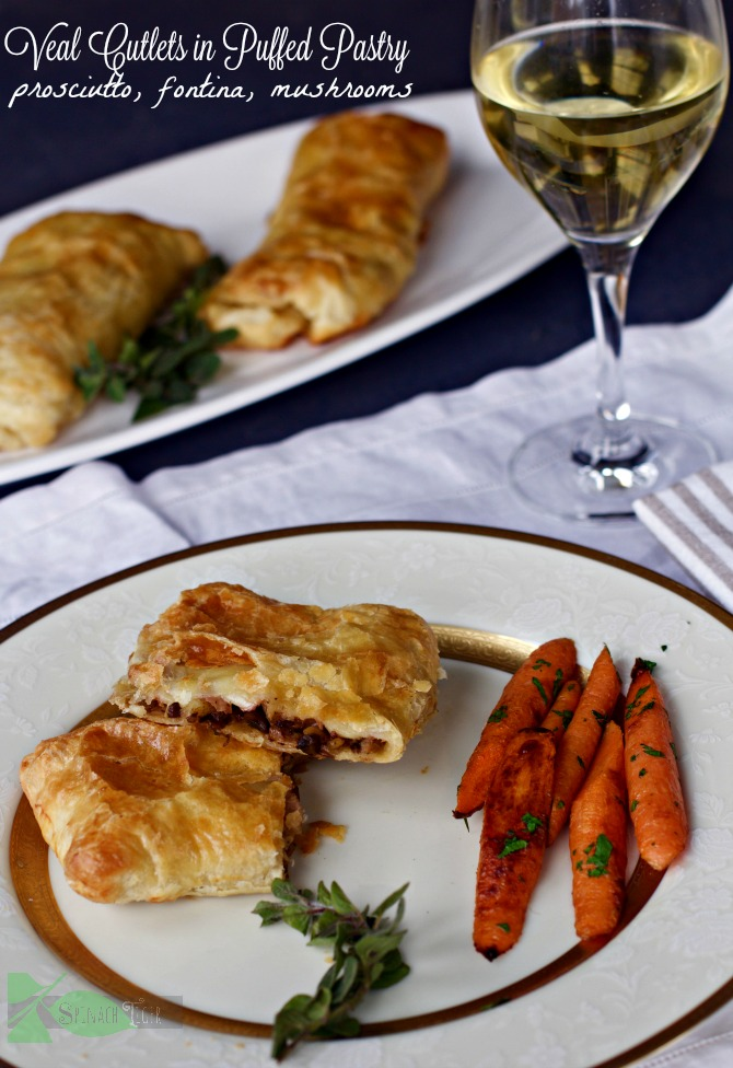 Veal Puff Pastry from Spinach Tiger