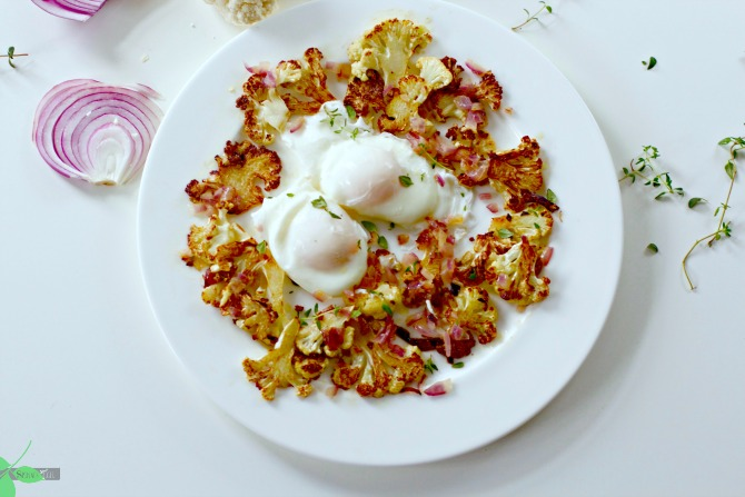 Poached Egg Recipe from Spinach Tiger