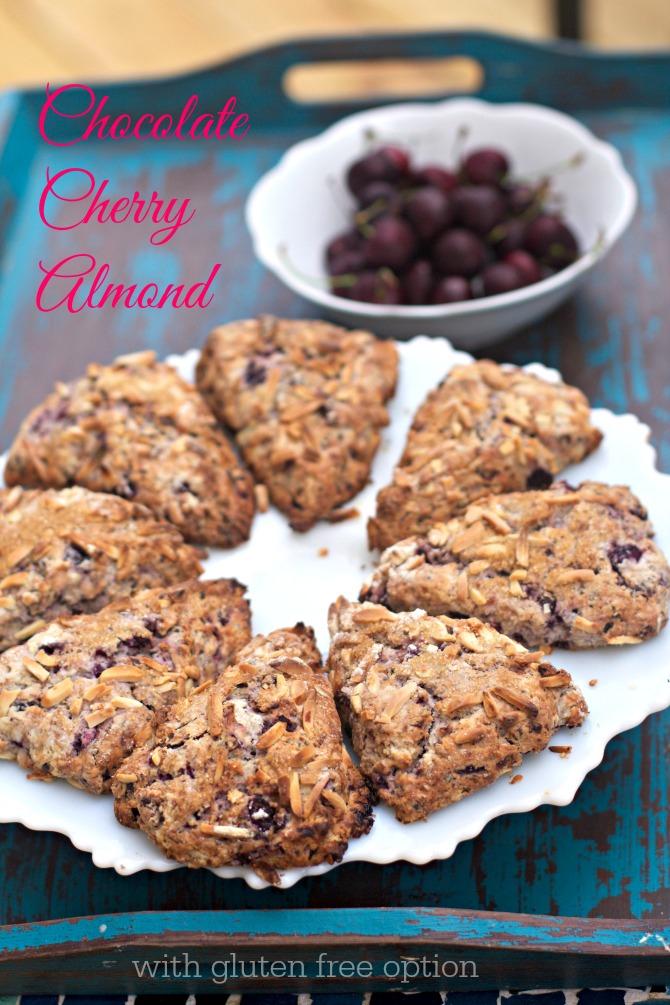 Chocolate Cherry Almond Scones by Angela Roberts