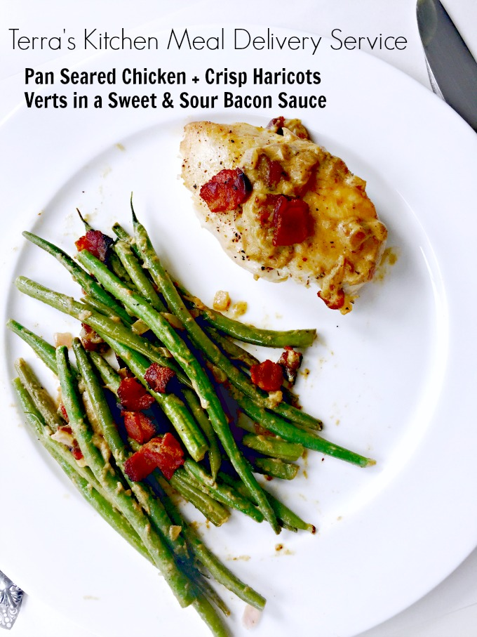 Pan Seared Chicken with Haricots Verts from Terra's Kitchen Best Meal Delivery Service by Angela Roberts