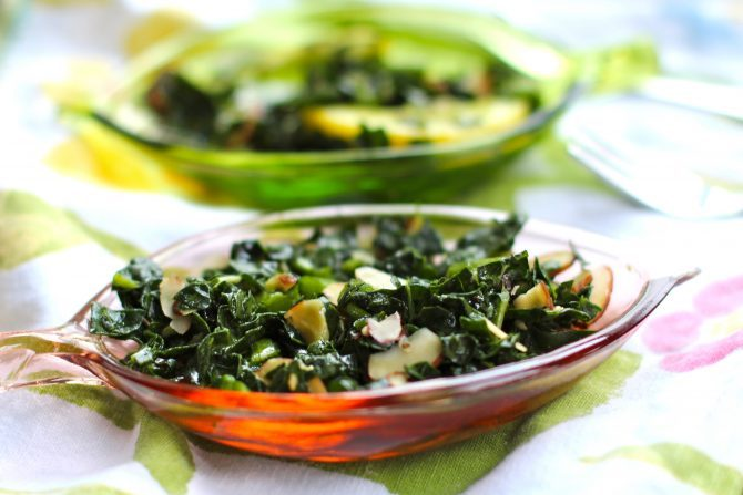 Tuscan Kale Salad and Holiday Side Dishes from Spinach Tiger