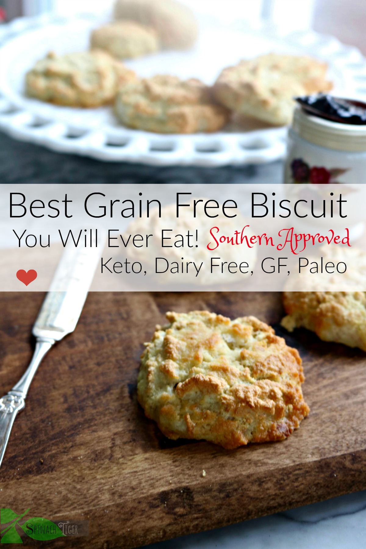 The best grain free biscuit anywhere. My students LOVE these in my keto baking class. #grainfreebiscuit #ketobiscuit #spinachtiger via @angelaroberts