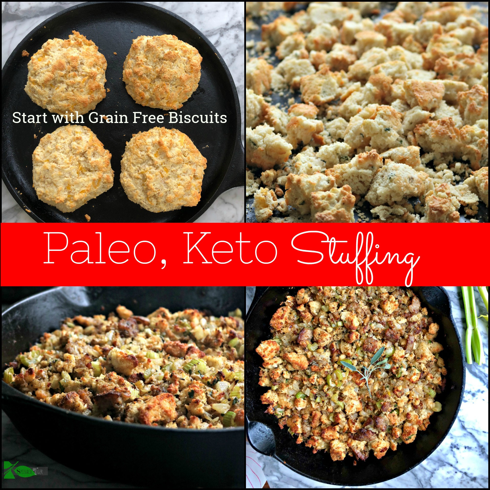 Keto Stuffing Hash from biscuits Spinach Tiger