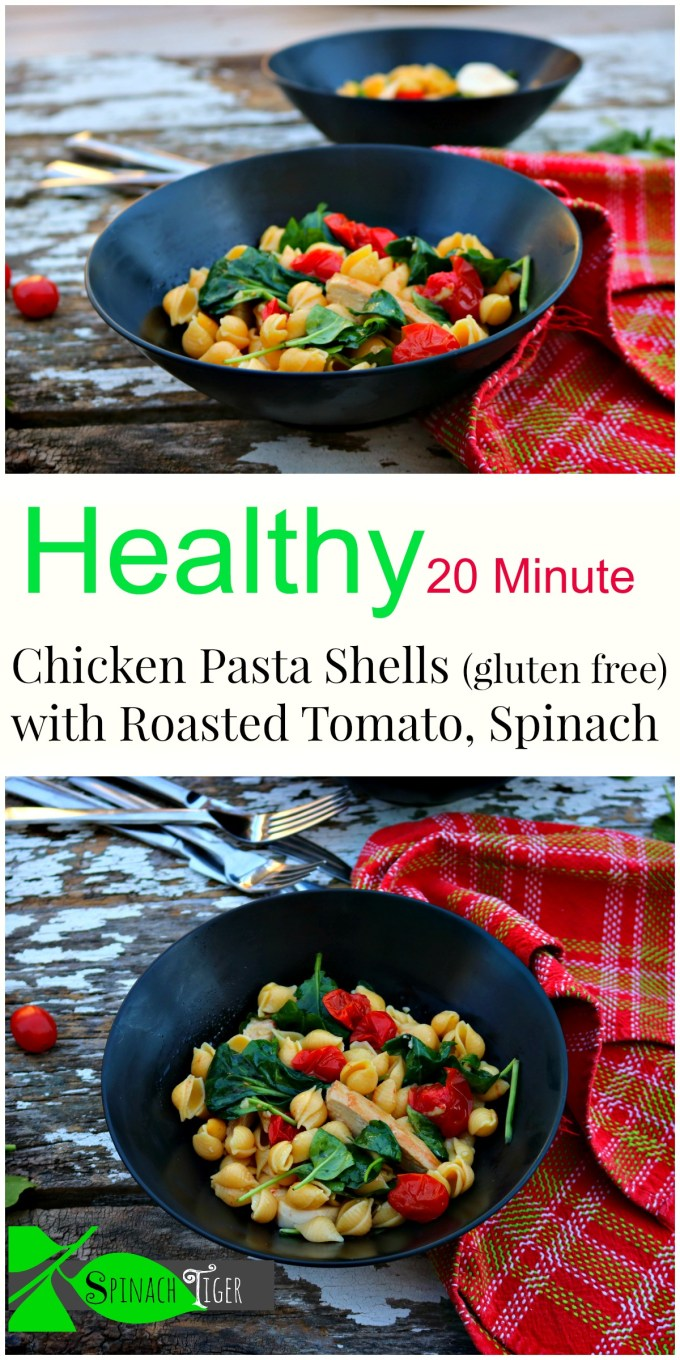 Chicken Pasta Shells with Roasted Tomatoes, Gluten Free