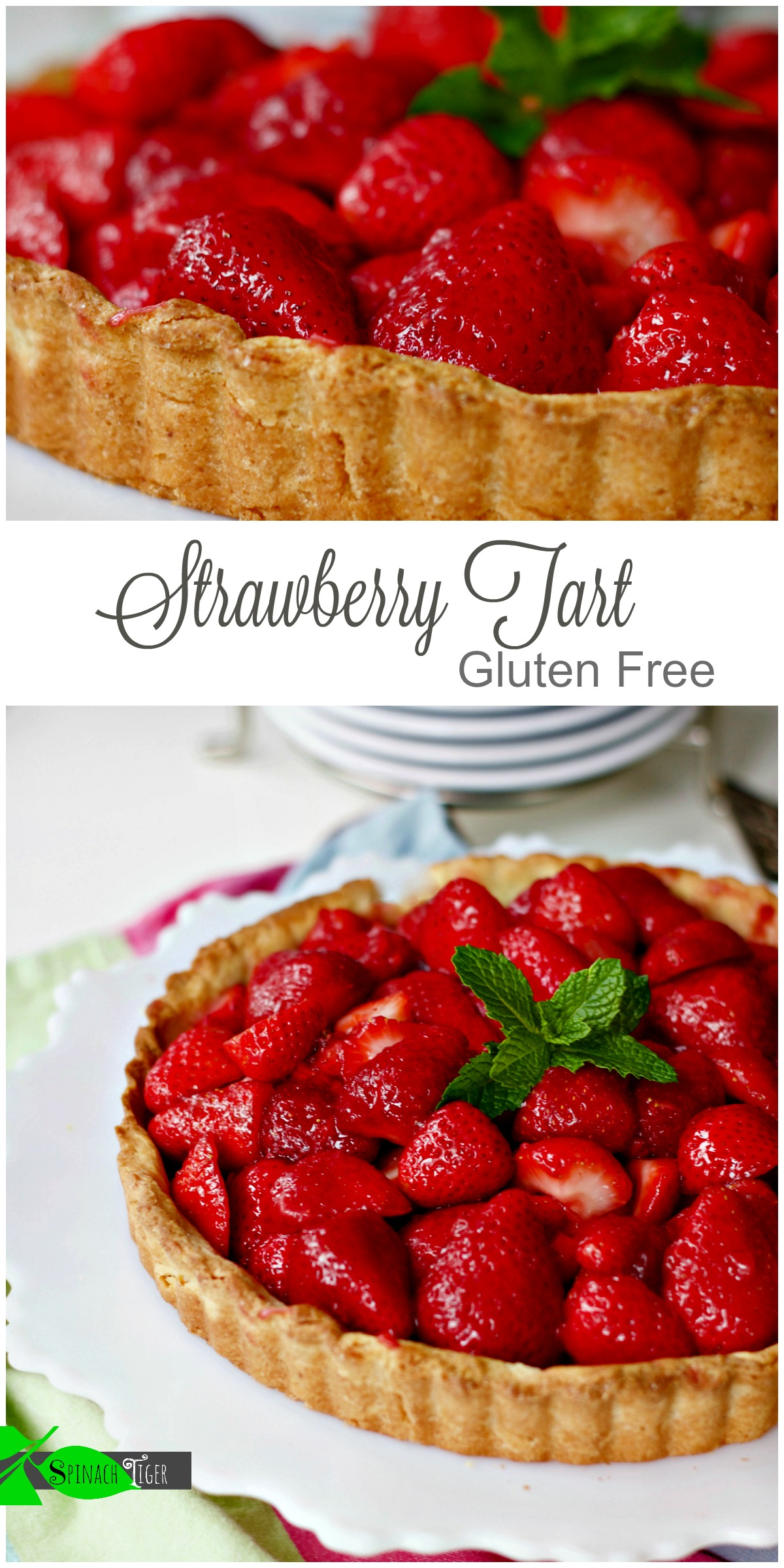Gluten Free Easy Strawberry Pie Recipe from Spinach Tiger