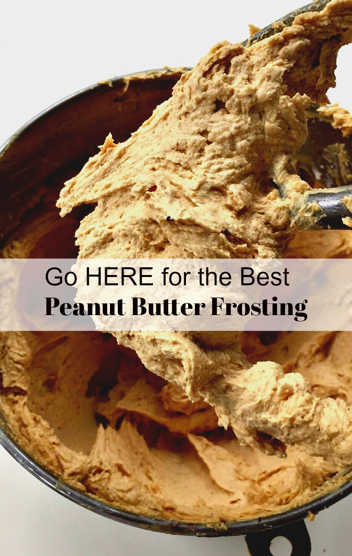 Peanut Butter Frosting for Chocolate Cupcakes from Spinach Tiger