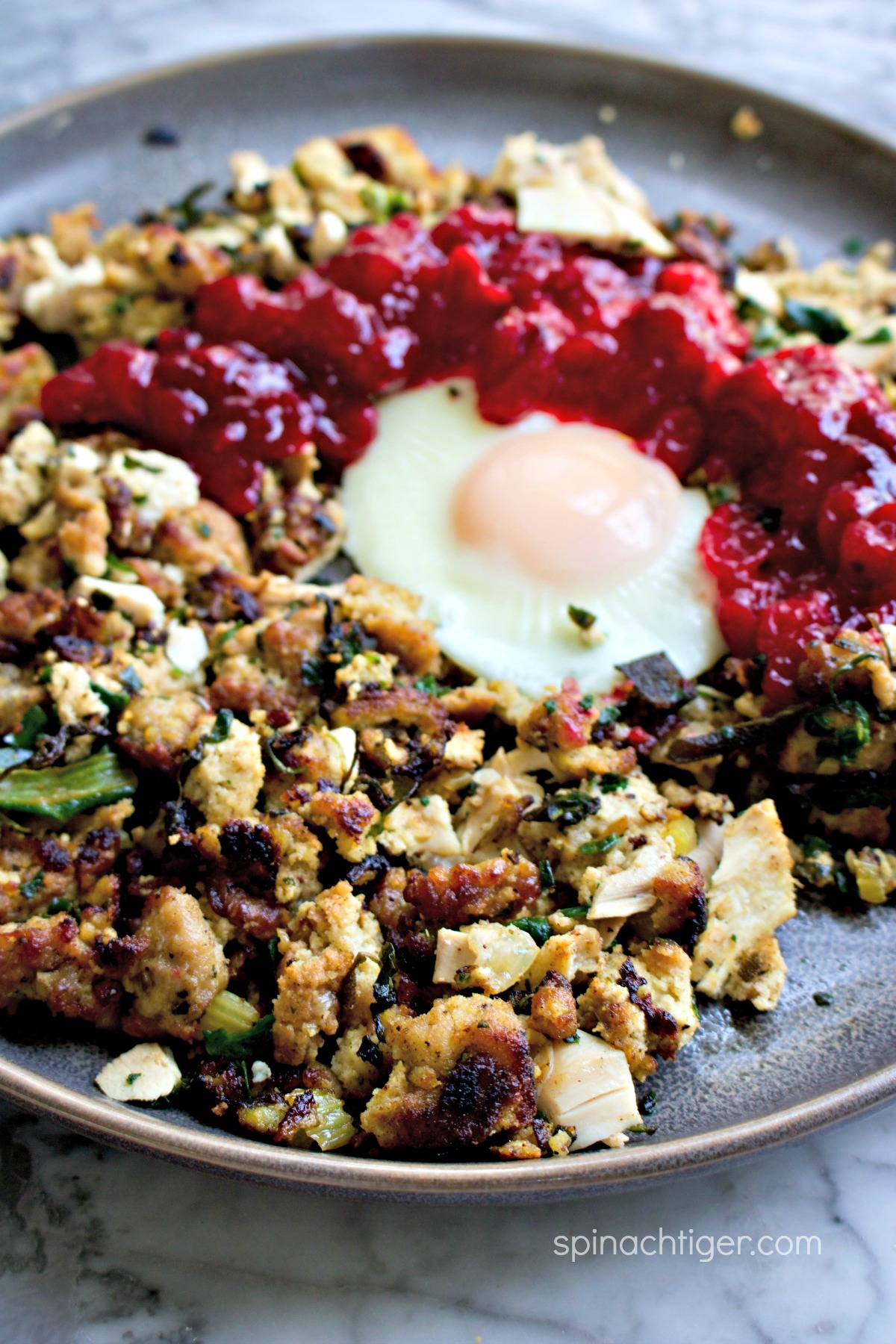 Keto Stuffing Hash from Leftovers by Spinach Tiger