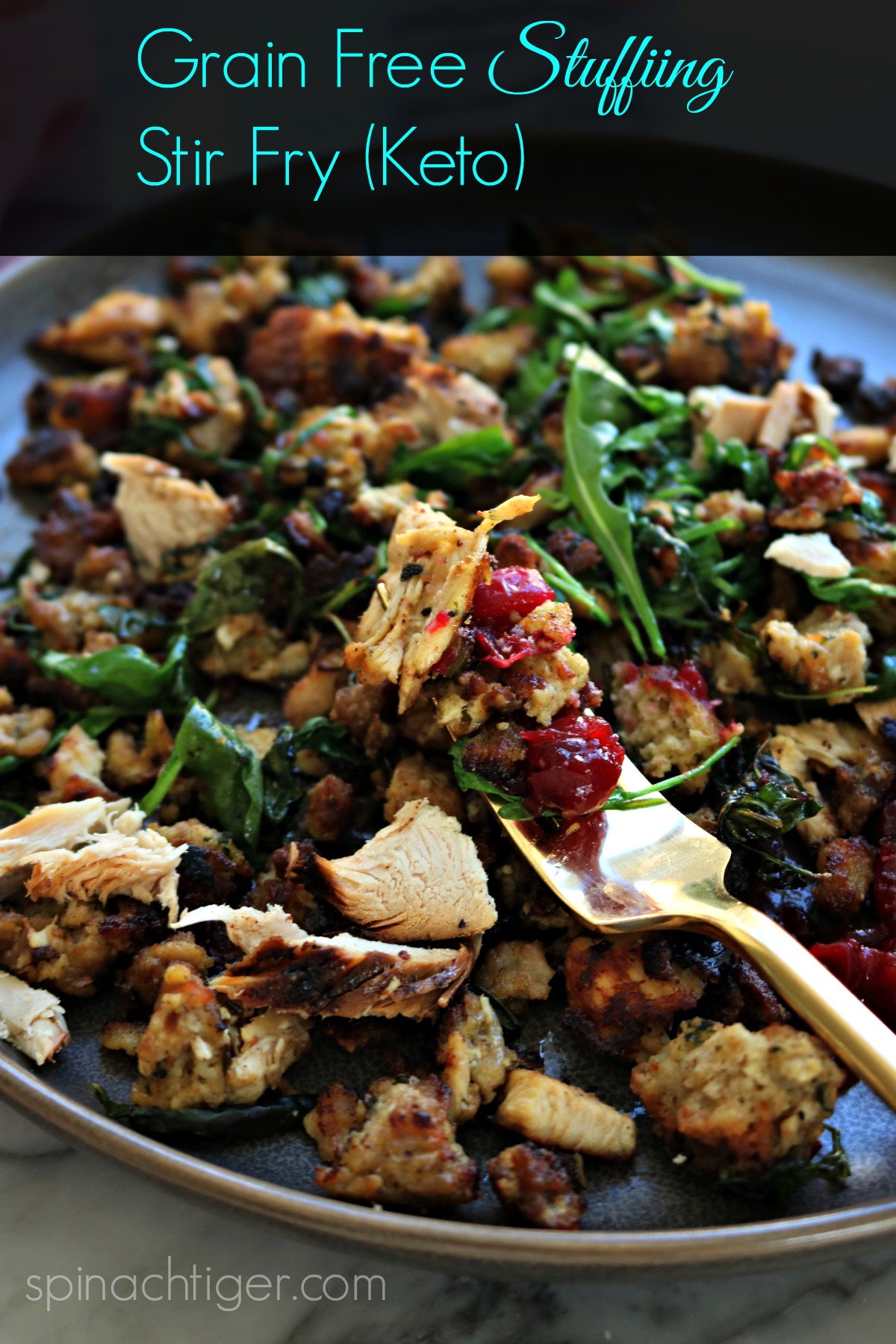 Grain Free stuffing Leftover Stir Fry