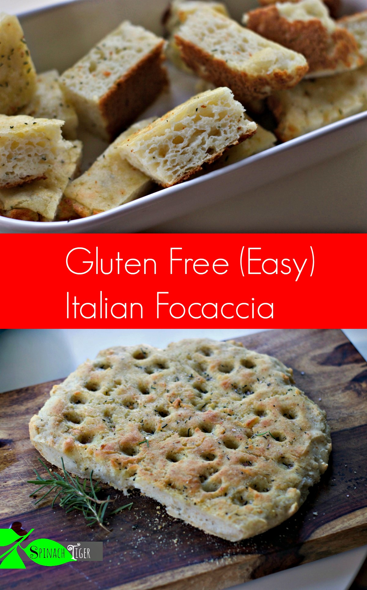 How to Make gluten free focaccia from Spinach Tiger