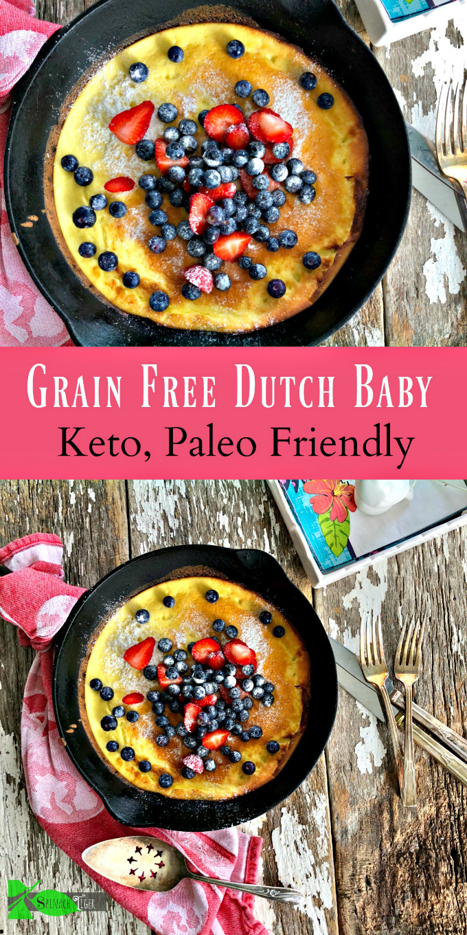 Keto Dutch Baby, Low Carb, Grain Free from Spinach Tiger via @angelaroberts