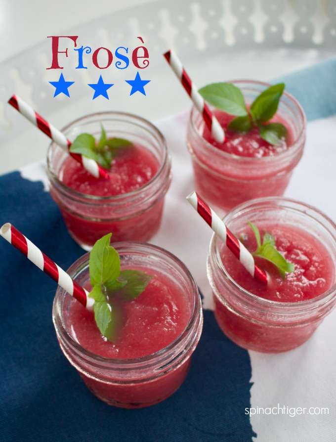 Strawberry Frosé, Frozen Rosé from Spinach TIger