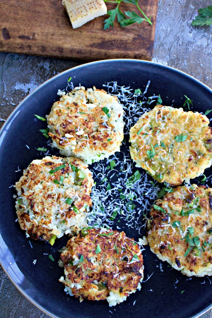 Italian Risotto Cakes from Spinach Tiger