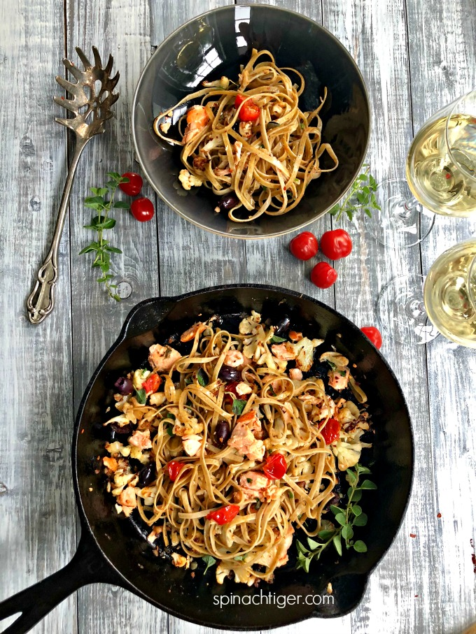 Pasta with Salmon Recipe from Spinach Tiger