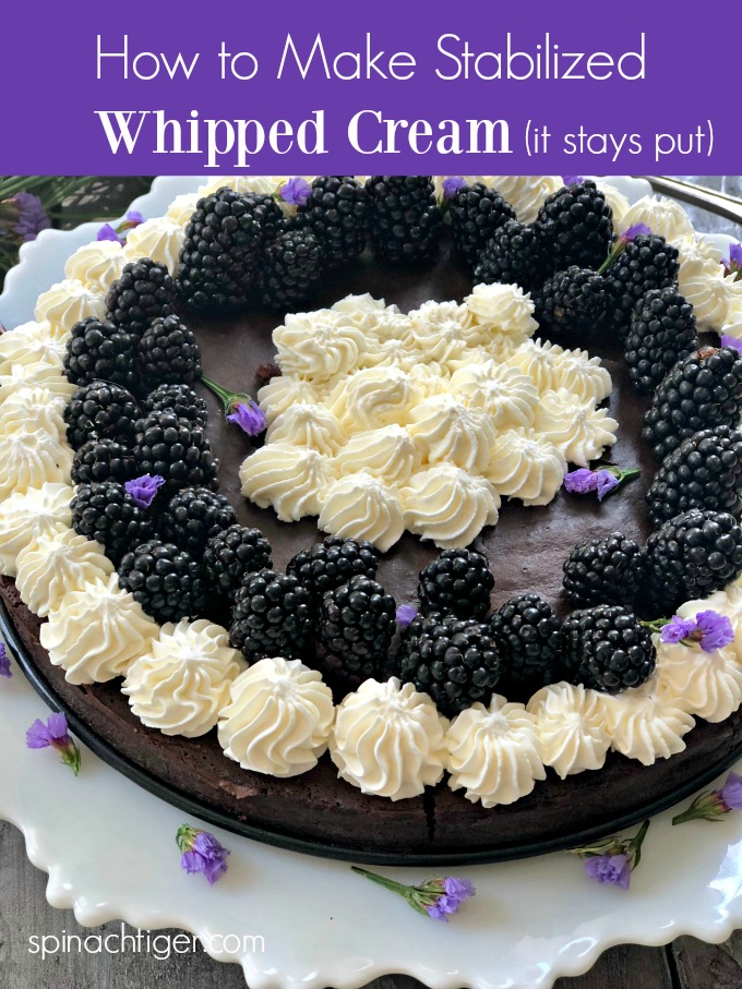 How to Make Stabilized Whipped Cream Icing Recipe #whippedcream