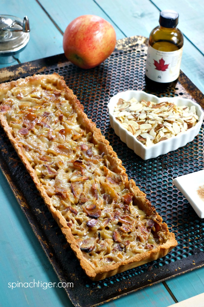 Grain Free Apple Almond Tart, Low Carb, Keto Friendly from Spinach Tiger