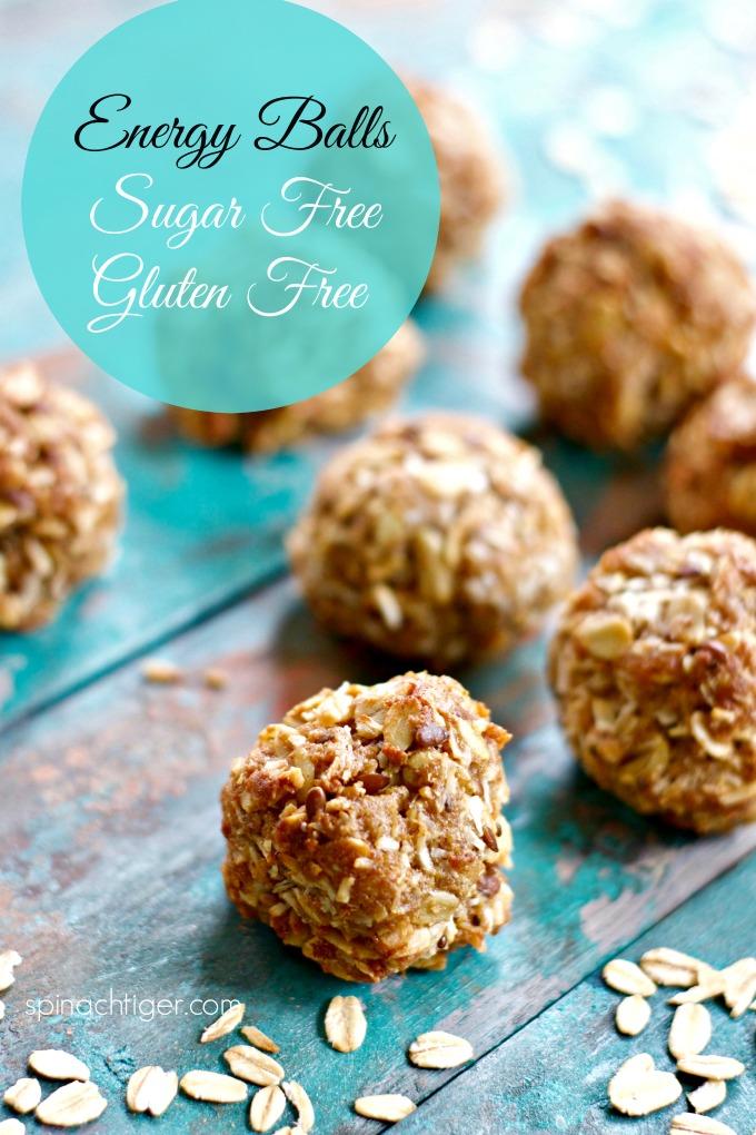 Energy Balls Recipe, Sugar Free, Gluten Free, from Spinach Tiger #energyballs #glutenfree #paleo #sugarfree