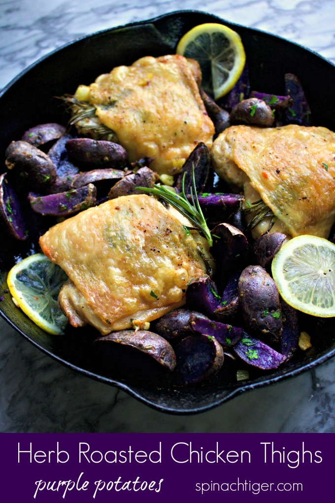 Recipes for Chicken Thighs (Chicken with purple potatoes)