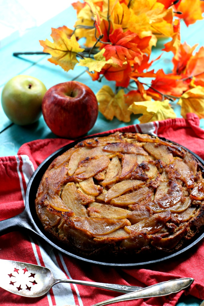 Low Carb Apple Upside Down Cake from Spinach Tiger