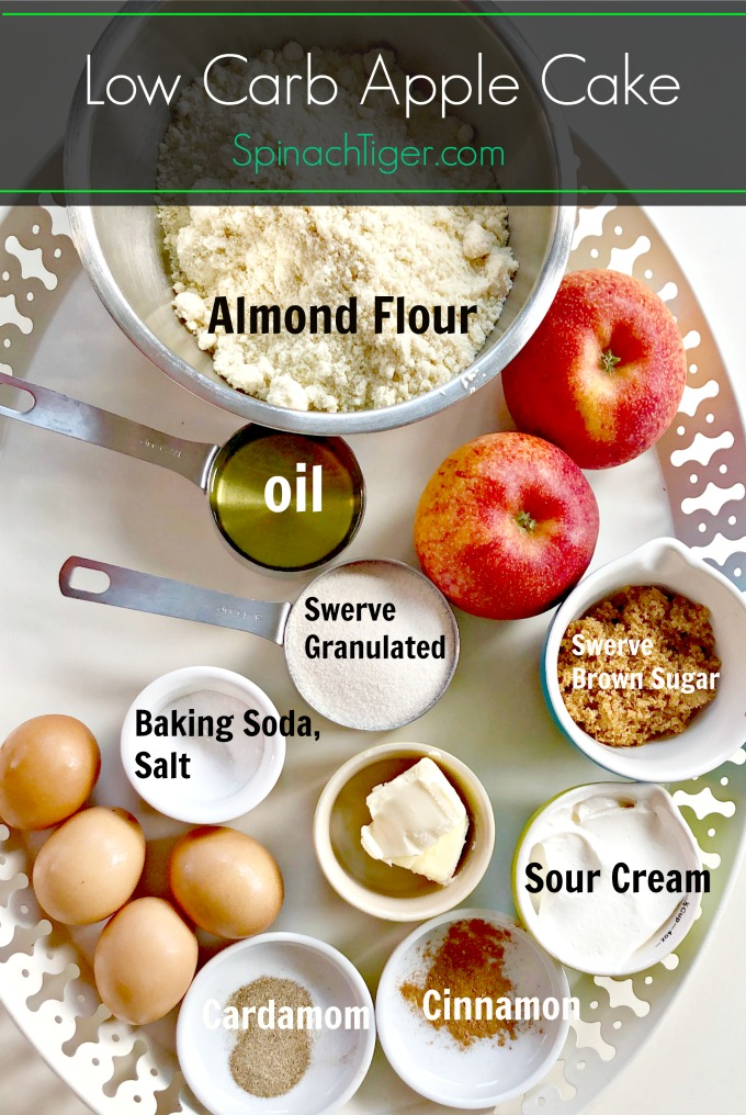 Ingredients for Low Carb Apple Upside Down Cake from Spinach Tiger
