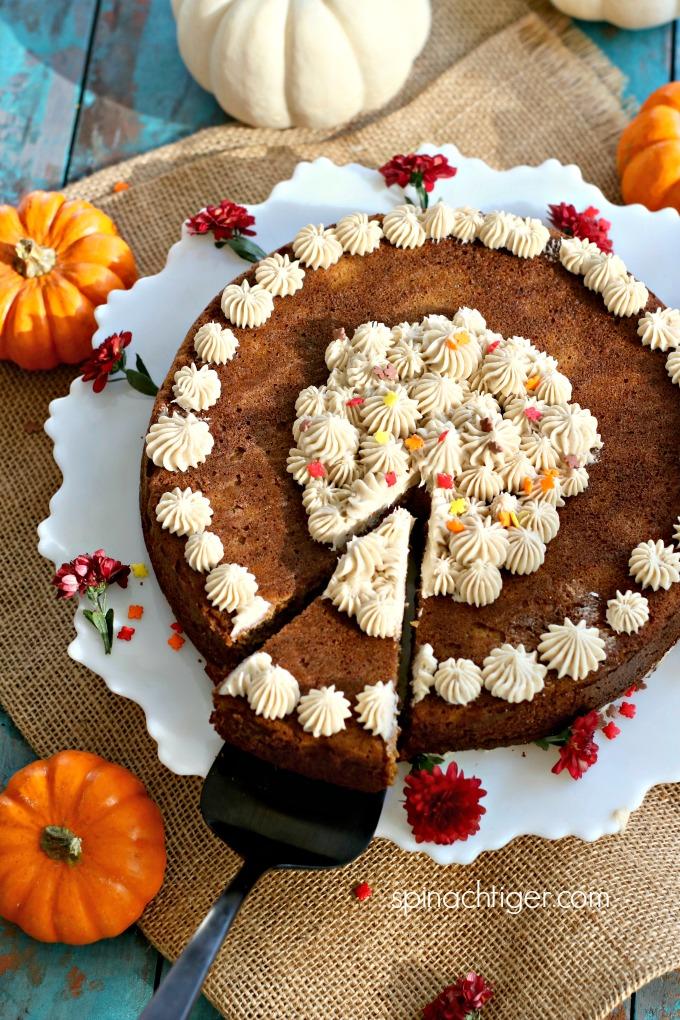 Grain Free Pumpkin Spice Cake with Pumpkin Spice Frosting