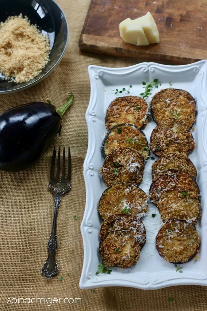 Italian Keto Fried Eggplant with Pork Panko from Spinach Tiger