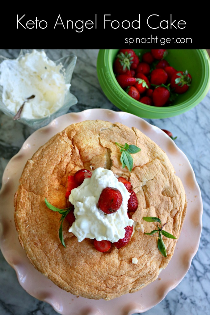 Keto Angel Food Cake Recipe from Spinach Tiger