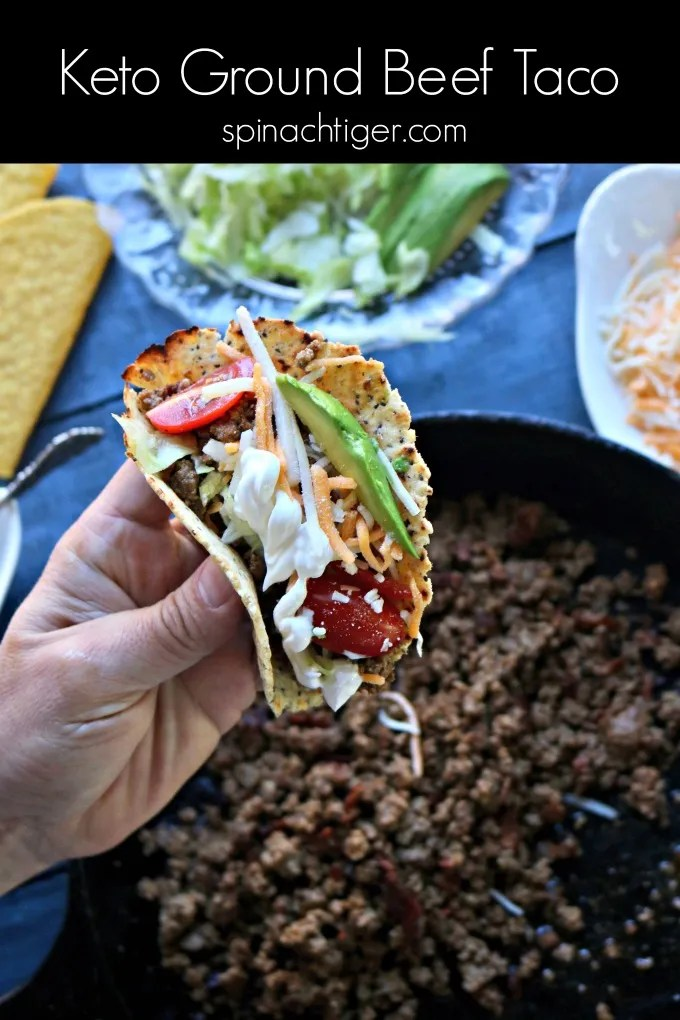 Keto Ground Beef Taco Meat from Spinach Tiger