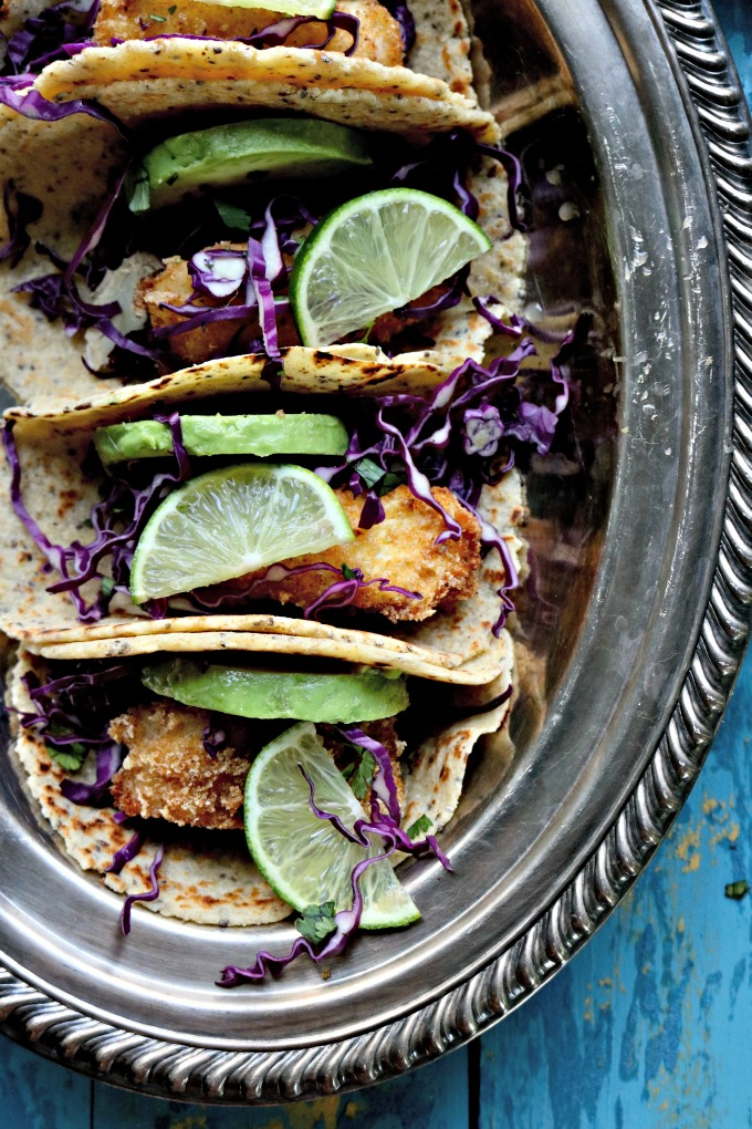 Keto Fried Fish Tacos from Spinach Tiger