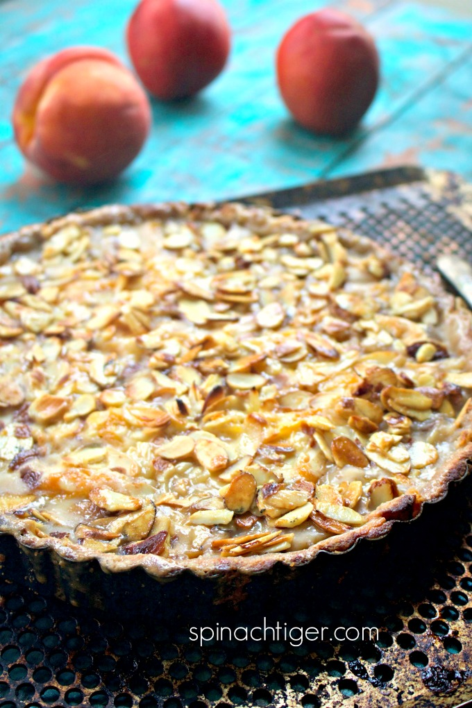 Low Carb Peach Almond Tart