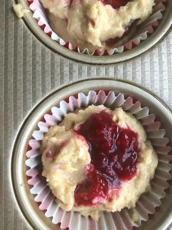 Keto Raspberry Muffin Batter