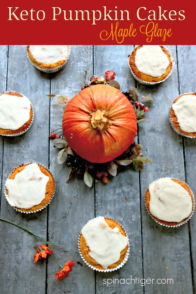 Keto Pumpkin Cupcakes from Spinach Tiger