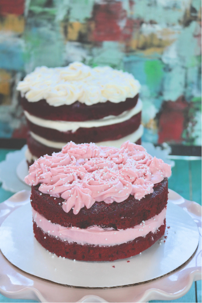 Keto Red Velvet Naked Layer Cake from Spinach Tiger
