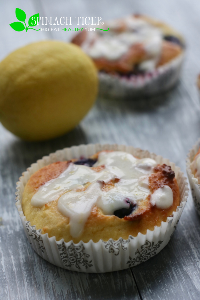 Keto Friendly, Low Carb BLueberry Muffin from Spinach Tiger