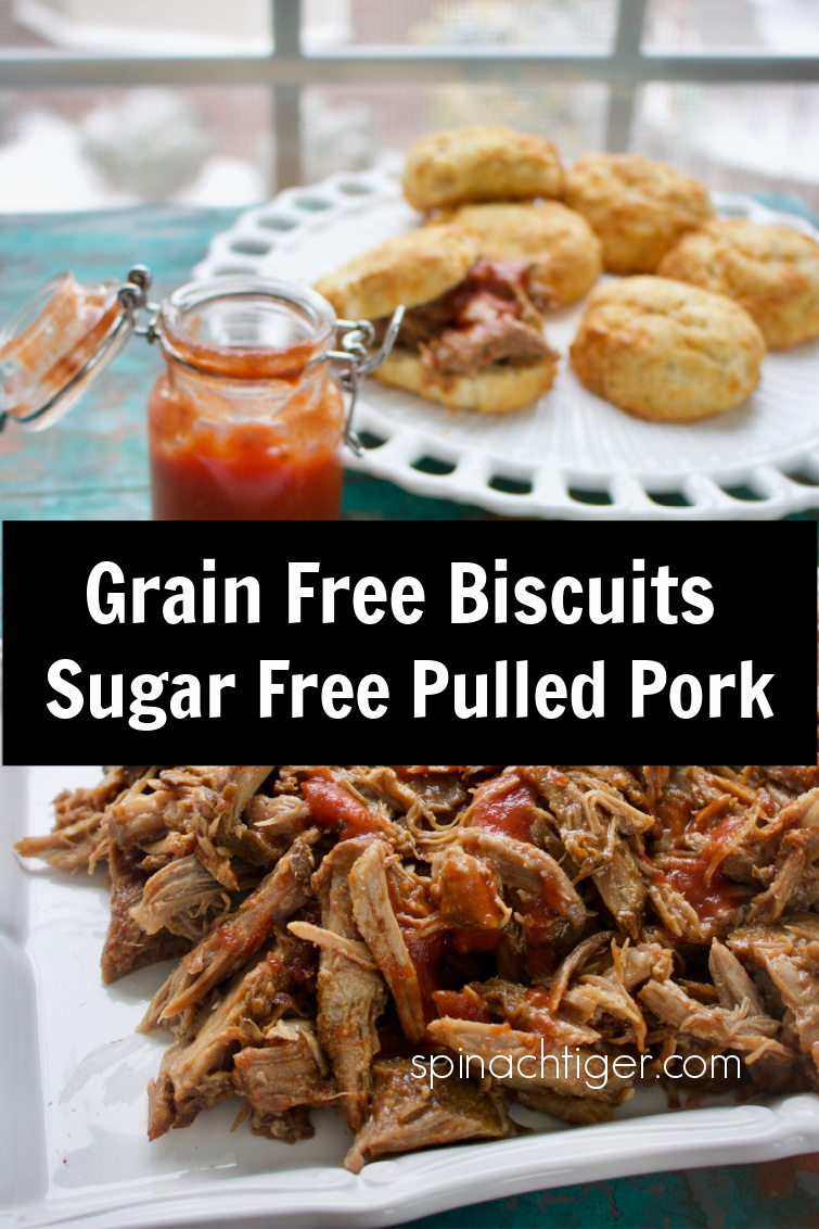 Slow Cooker Pulled Pork, fork tender, with homemade sugar free barbecue sauce or use the barbecue sauce of your choice. Eat with Biscuits for a southern treat. #slowcooker #pulledpork #ketopulledpork via @angelaroberts
