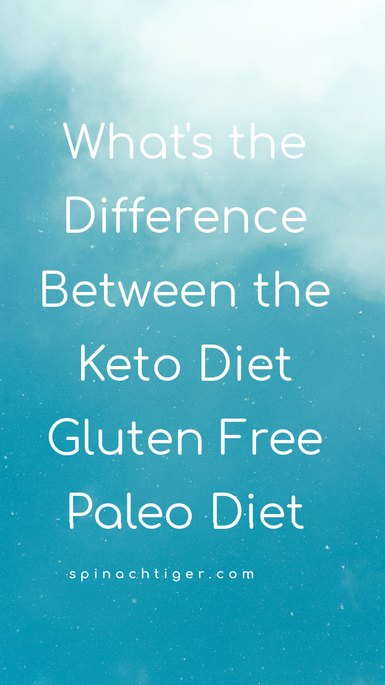 How to navigate these latest food trends. How to tell them apart. What keto, paleo and gluten free have in common and how they are different. #ketodiet #glutenfree #paleodiet #spinachtiger via @angelaroberts