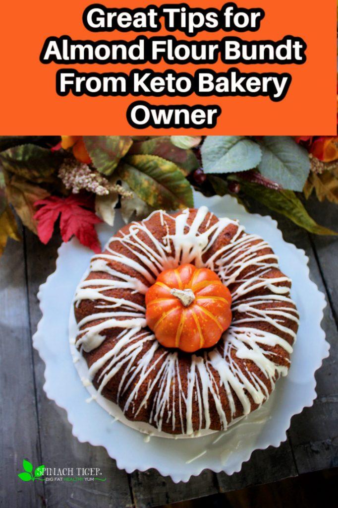 Keto Pumpkin Bundt Cake with Vanilla Glaze from Spinach Tiger