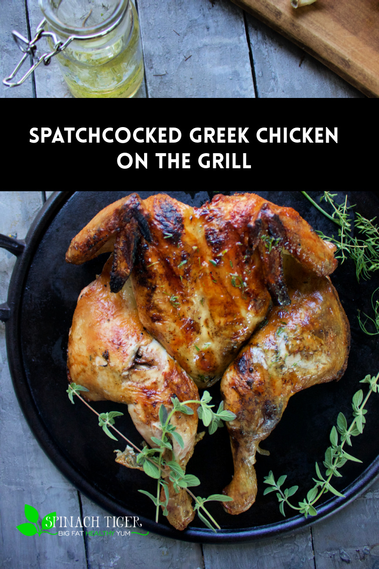 If you tired of same old chicken, make a Grilled spatchcock chicken Greek style with olive oil, lemon, garlic, herbs and honey. via @angelaroberts