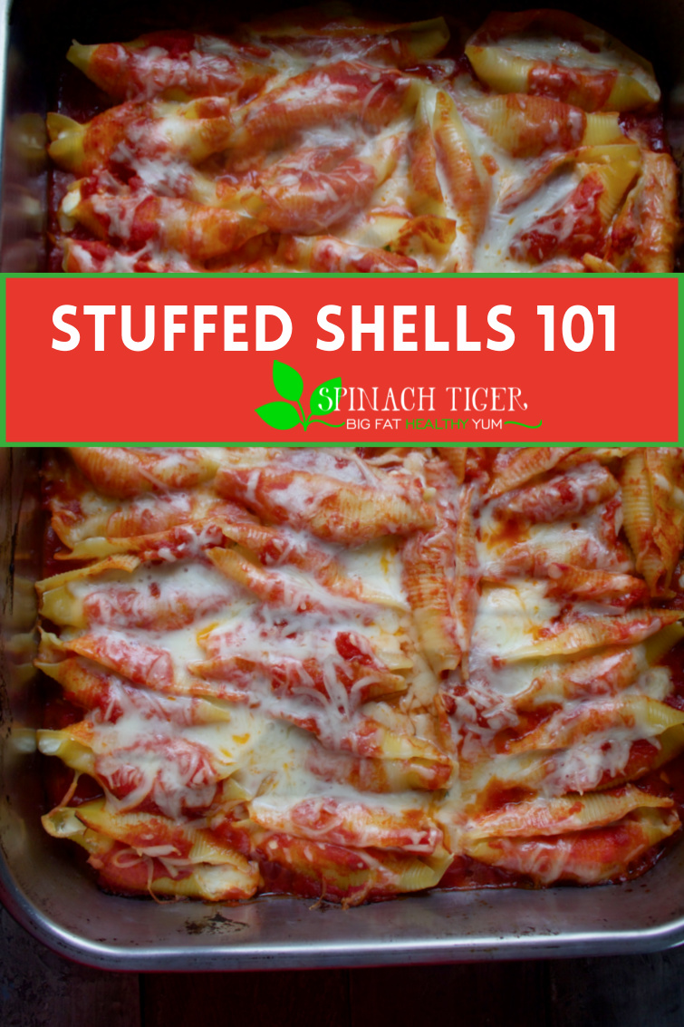 Perfect Italian Stuffed Shells Recipe. Serve at holidays or for crowd. Easier to serve than lasagna, get all the tips for making this iconic dish. #stuffedshellsrecipe #Italianfood via @angelaroberts