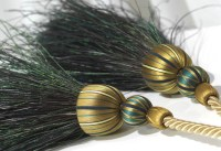 PEACOCK TIEBACK - FEATHER TIEBACKS - CURTAIN TIEBACKS AND ...