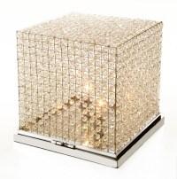 BEADED CRYSTAL CUBE FLOOR/TABLE LAMP - FLOOR LAMPS - LIGHTING