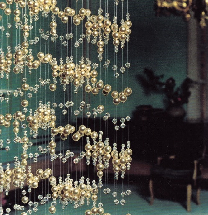 PEARL AND CRYSTAL BEADED CURTAIN CRYSTAL CURTAINS AND ROOM DIVIDERS