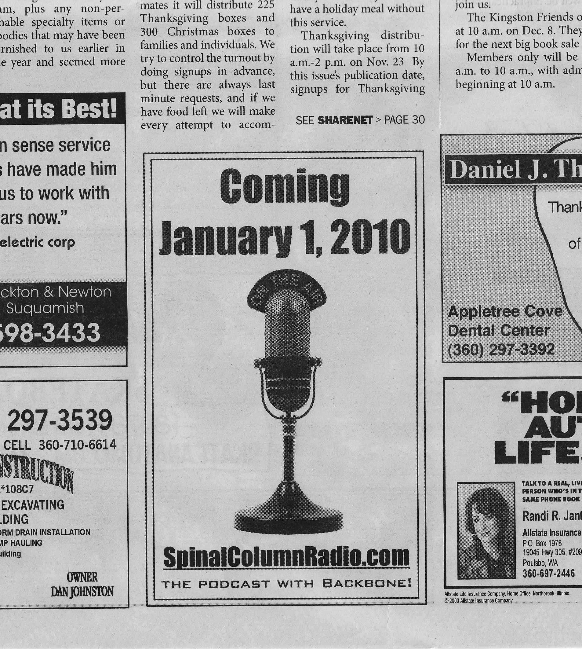 Promotional Bin SpinalColumnRadio