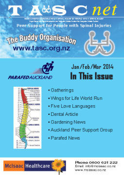 Cover of The TASC Net Newsletter March 2014- cover has 6 photos