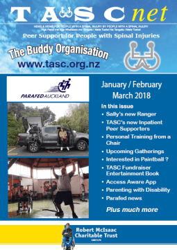 Cover of The TASC Net Newsletter Januarary 2018 - cover has 2 photos