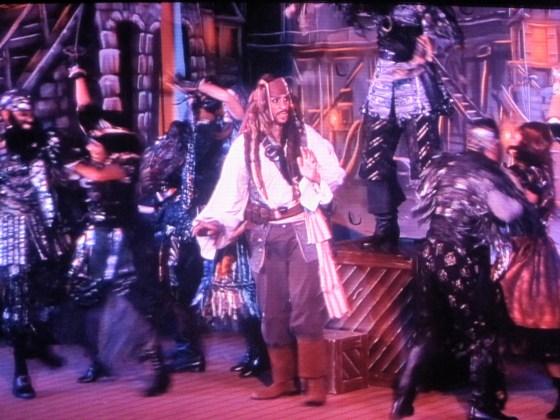 Captain Jack Sparrow auf der Disney Fantasy