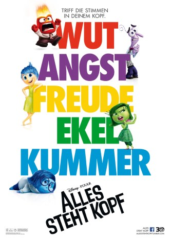 Alles steht Kopf - Disney-Pixar Animationsfilm
