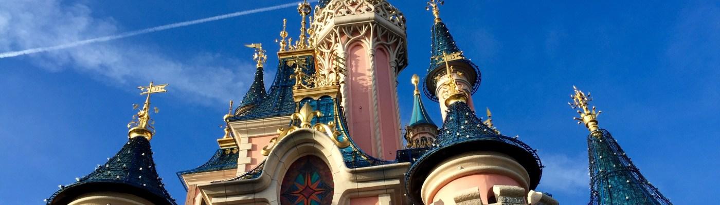 Das Dornröschenschloss im Disneyland Paris zu Silvester 2015