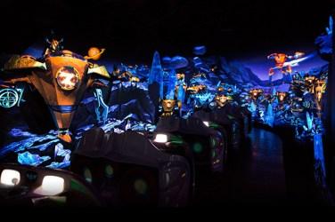 """Die Attraktion """"Buzz Lightyear Planet Rescue"""" in Shanghai Disneyland"""